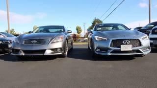 infiniti q60 red sport 400 versus g37 ipl 6mt coupe