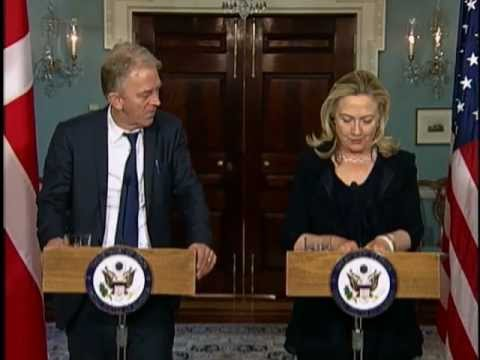 Secretary Clinton Delivers Remarks With Danish Foreign Minister Sovndal