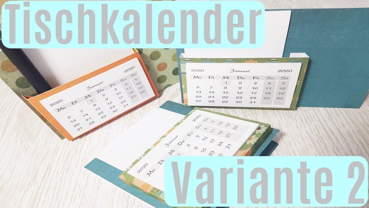 Tischkalender Selber Basteln Variante 2 Geschenkidee Kalender Basteln Basteln Mit Papier