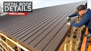 Building a Large Garage Part 4: Metal Roof Details and Porch Piers