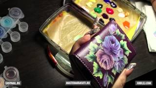 masterakrasoti.ru — Юлия Билей, Розы плоской кистью 1