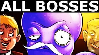 Octogeddon - Hard Mode - All Bosses, All Boss Battles Gameplay (No Commentary) (Indie Game 2018)