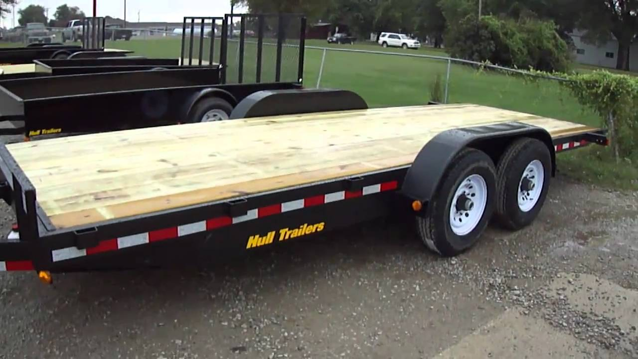 Hull Trailers E T Electric Tilt Bed Tandem Trailer Youtube