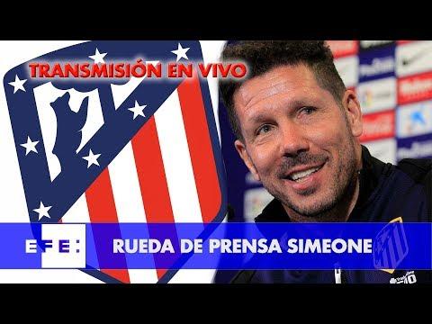 Rueda de prensa entrenador del At de Madrid, Simeone
