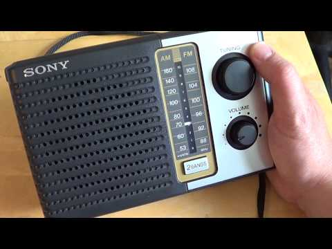 Sony ICF F10  Analog  AM FM radio receiver look and review
