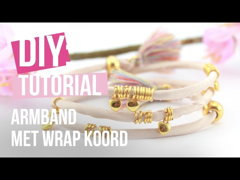 Sieraden maken: Armband met wrap koord ♡ DIY