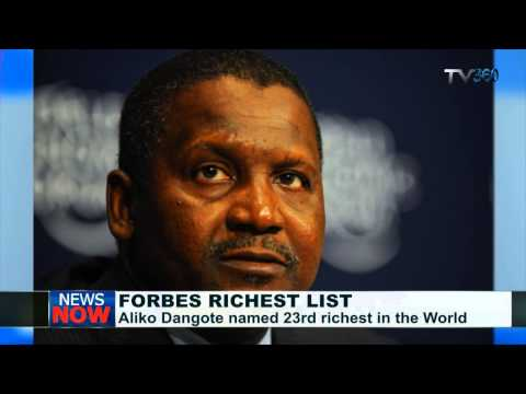 Dangote ranked 23rd richest in the world