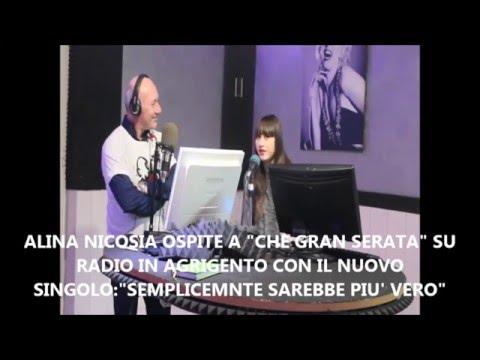 """ALINA NICOSIA OSPITE A """"CHE GRAN SERATA"""" SU RADIO IN AGRIGENTO !!!"""