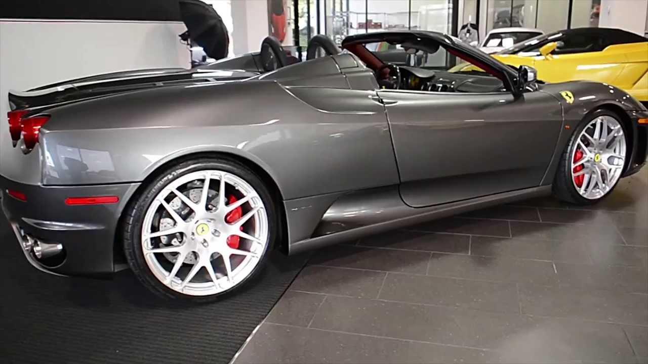 Carfax Report Free >> 2008 Ferrari F430 Spider F1 Grigio Silverstone LT0596 - YouTube