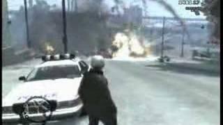 multi-car big ass explosion GTA IV