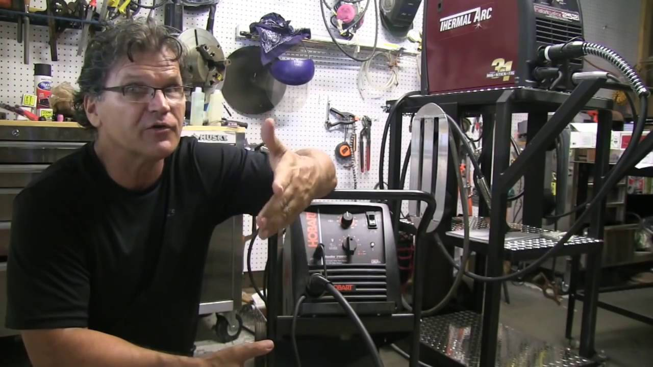 Mig Welding Basics - part 3 [ Setting Voltage and Wire Speed ] - YouTube