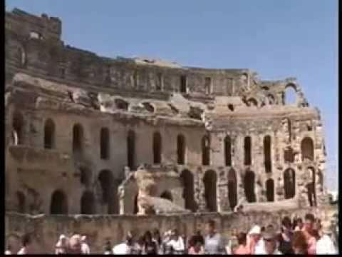 Roman Gladiator arena in El Jem Tunisia