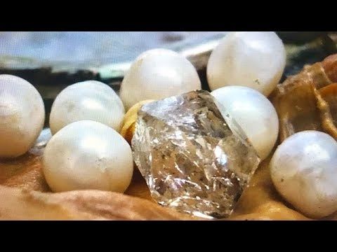 REAL DIAMOND & PEARLS FOUND IN OYSTER....IN TOTAL SHOCK!! ON