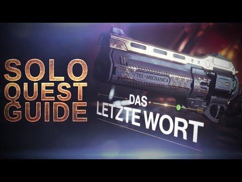 DAS LETZTE WORT - SOLO Quest GUIDE - 🍀 3 EMBLEME VERLOSUNG 🍀 - Destiny 2 thumbnail