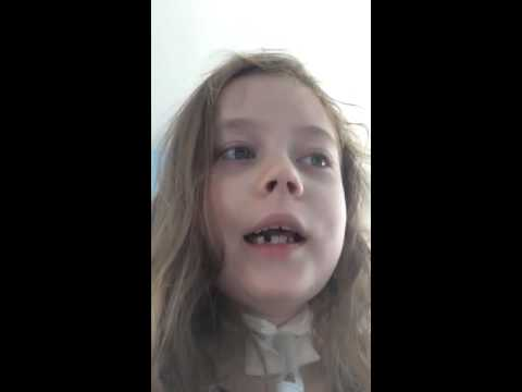 7 year old Greta is singing nothing gonna stop me now by Olivia Holt