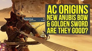 Assassin's Creed Origins Best Weapons NEW ANUBIS BOW & Golden Sword - ARE THEY GOOD? (AC Origins)