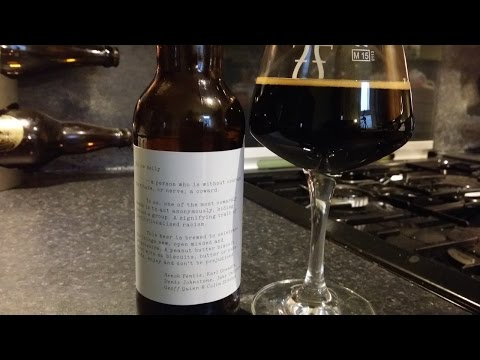 (4K) Buxton Brewery & Omnipollo Yellow Belly Imperial Stout | British / Swedish Craft Beer Review
