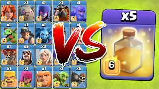 HEALING SPELL vs ALL TROOPS IN CLASH OF CLANS!! 😍 NEW EVENT IMPOSSIBLE CHALLENGE!