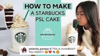 HOW TO MAKE A STARBUCKS PUMPKIN SPICE LATTE CAKE   natcakesmyday