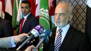 وزير الخارجية العراقي ابراهيم الجعفري بعد اجتماع الجامعة العربية واعتبار حزب الله منظمة ارهابية