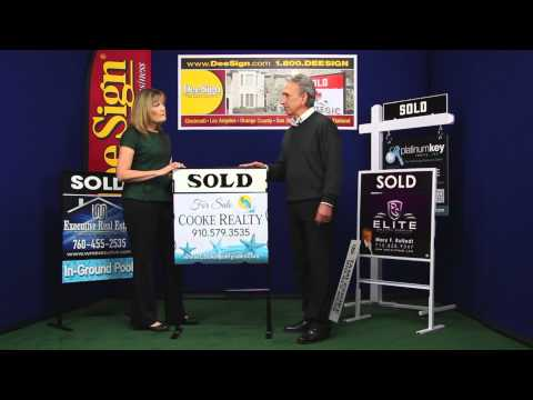 Real Estate Signs &  Frames with Slip-in Panels