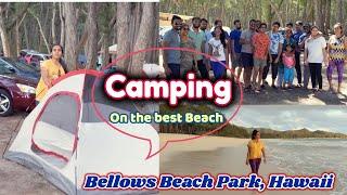 Beach Camping - Oahu, Hawaii ||Telugu Vlogs from USA