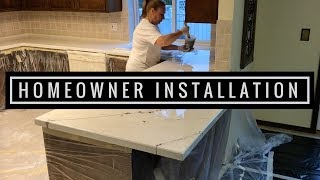 Epoxy Countertop Installed in Kitchen by Homeowner Full Tutorial