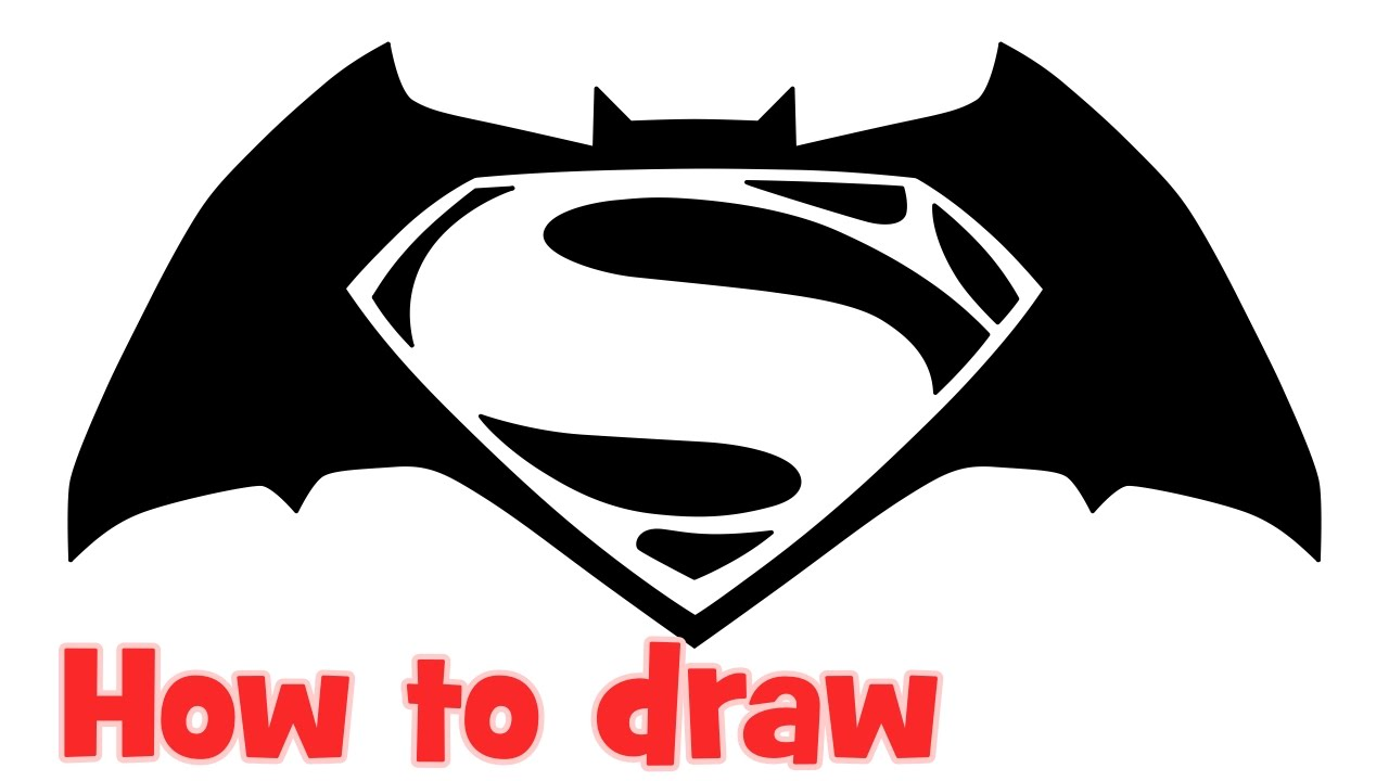 How To Draw Batman V Superman Dawn Of Justice Logo Step By