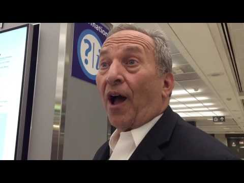 Bankster Larry Summers Doesn't Like Questions About Bilderberg!