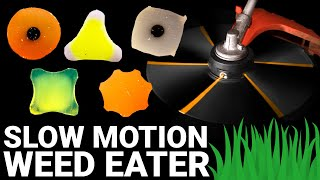 Which Shape CUTS BEST? (Weed Eater Line at 100,000 Frames Per Second) - Smarter Every Day 238