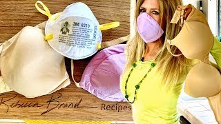 How to Make an N95 Mask out of a BRA DIY Do it Yourself Respirator Mask In My Opinion