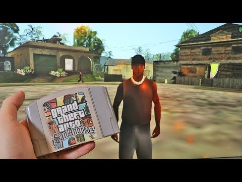 GTA San Andreas With Nintendo 64 Graphics (GTA SA Lowest Graphics)