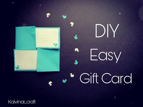 Easy DIY Pop up card. Gift card. How to make popup card for scrapbook..  Square twist popup card..😍