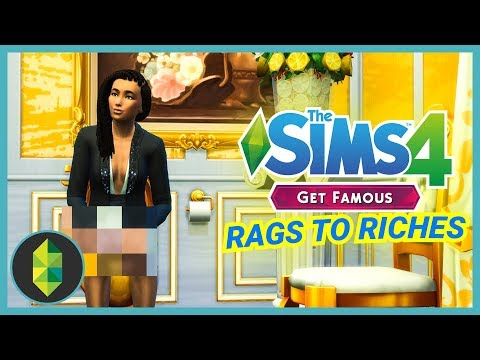 GOLD THRONE ROOM - Part 17 - Rags to Riches (Sims 4 Get Famous) thumbnail