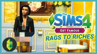 GOLD THRONE ROOM - Part 17 - Rags to Riches (Sims 4 Get Famous)