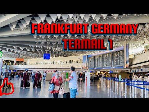 4K Frankfurt Airport Terminal 1 walk on 13.09.2020