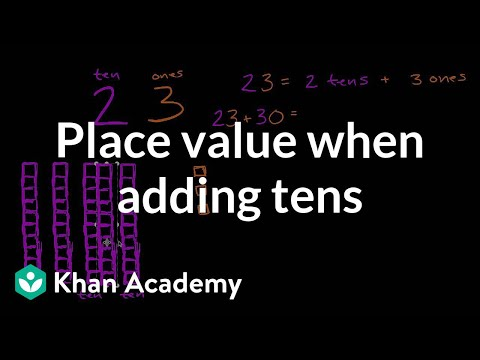 Understanding Place Value While Adding Tens | Early Math | Khan Academy