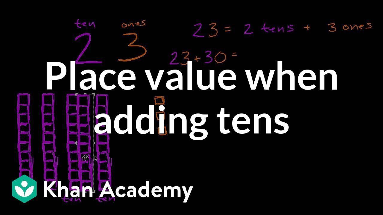 3eb320cc25c Understanding place value when adding tens (video) | Khan Academy