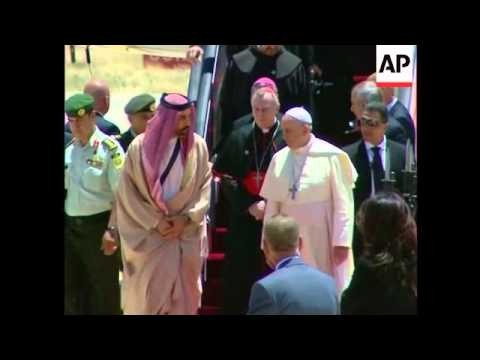 4:3 Pope Francis arrives in Jordan at start of three-day trip to the region