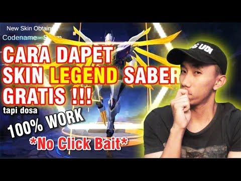 DAPET SKIN LEGEND SABER GRATIS!!! WORK 100% TAPI DOSA *NO CLICK BAIT*