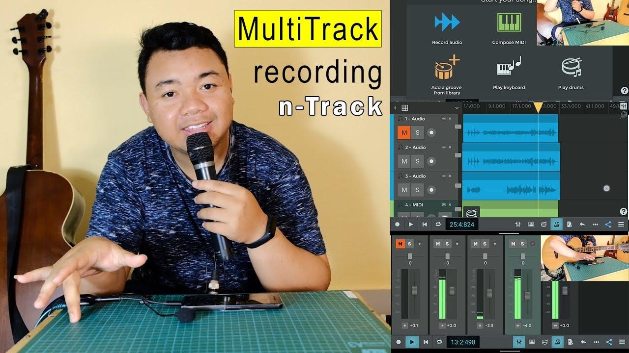 Cara Rekam Multitrack Menggunakan Hp Dengan Aplikasi N Track Youtube