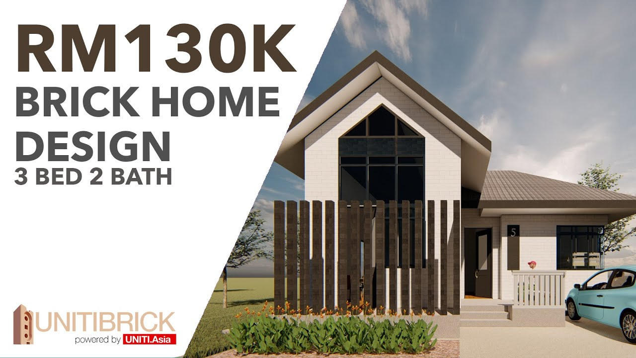 INTERLOCKING BRICK HOME DESIGN AT RM130K !