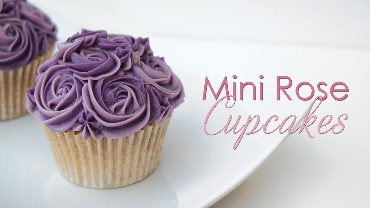 Mini Rose Cupcake Piping Technique Tutorial Youtube
