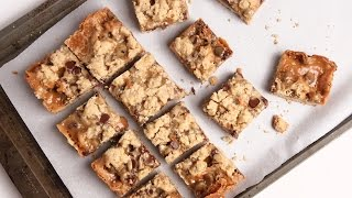 Caramel Chocolate Oatmeal Bars Recipe - Laura Vitale - Laura In The Kitchen Episode 921