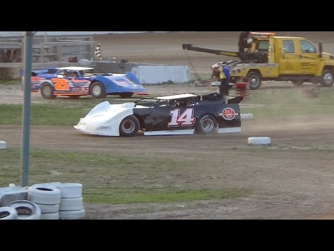 American Ethanol Late Models Heat Race #2 at Mount Pleasant Speedway 08-19-16.