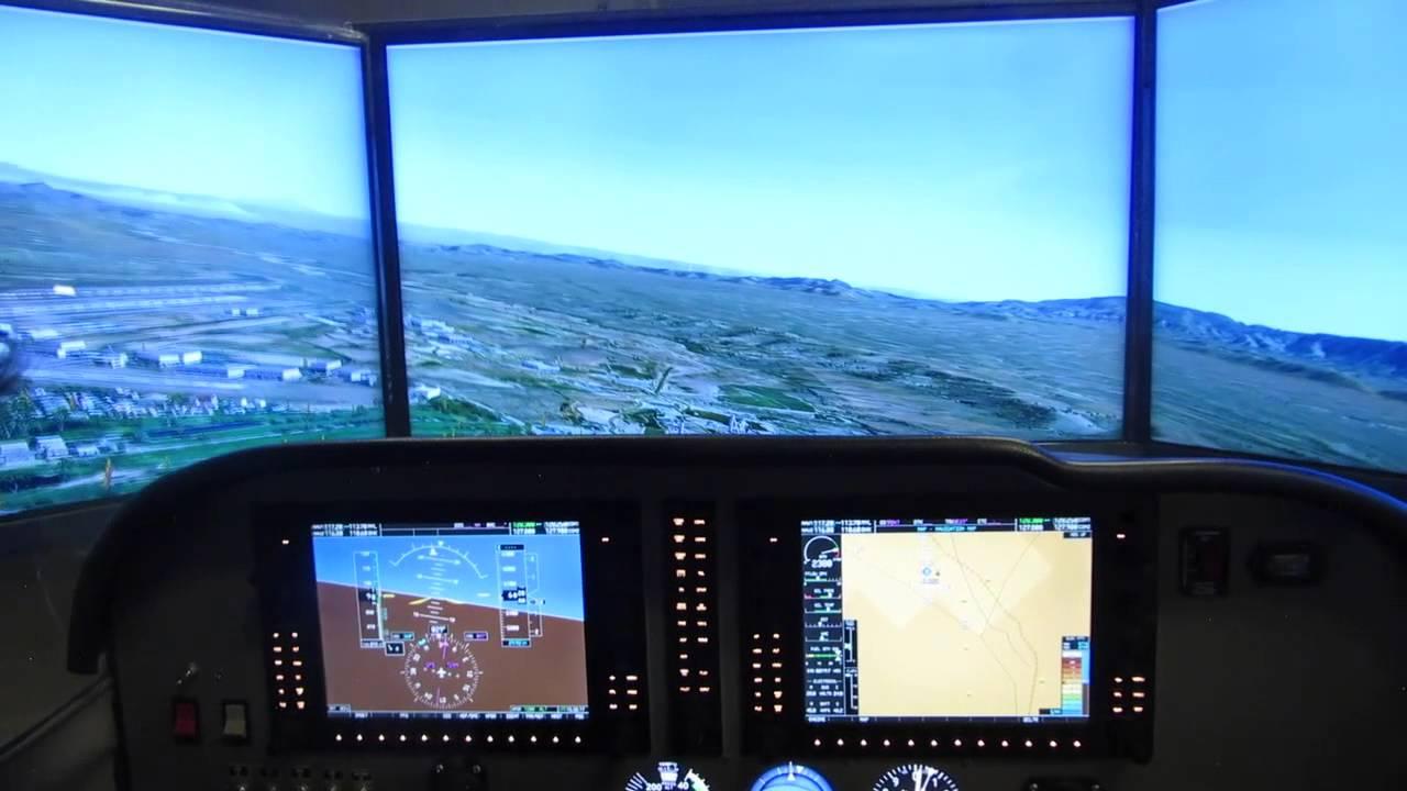 Cessna 172SP NAVIII Full Cockpit Flight Simulator  YouTube