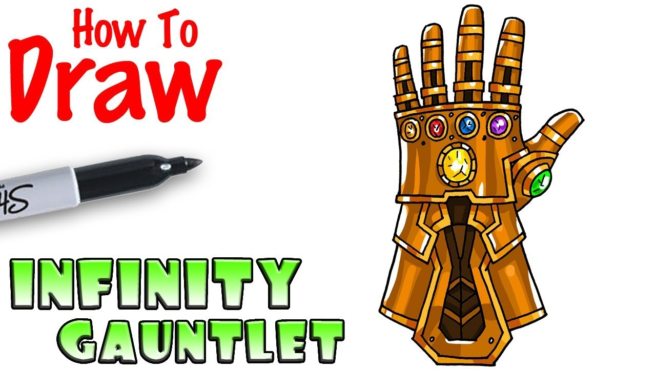 How To Draw The Infinity Gauntlet Youtube