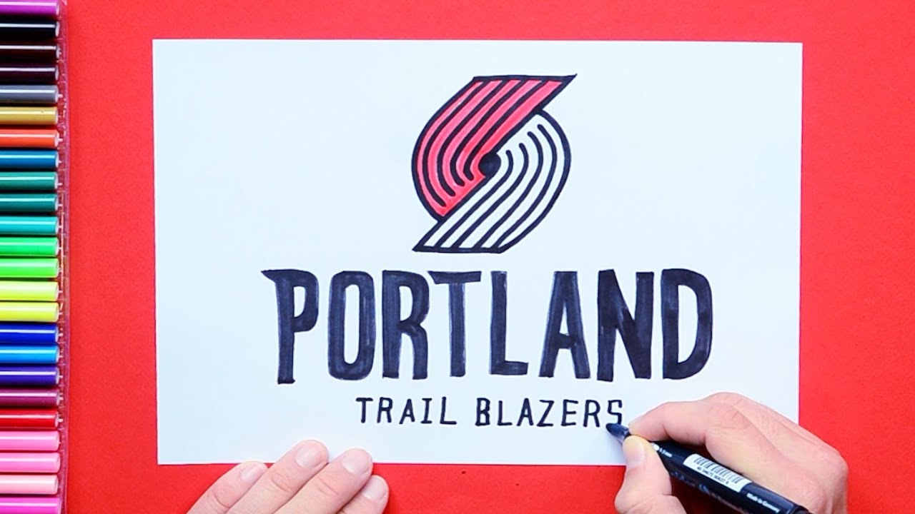 How To Draw And Color The Portland Trail Blazers Logo Nba Team