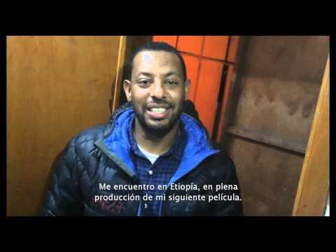 Saludo Zeresenay Mehari Difret al publico colombiano