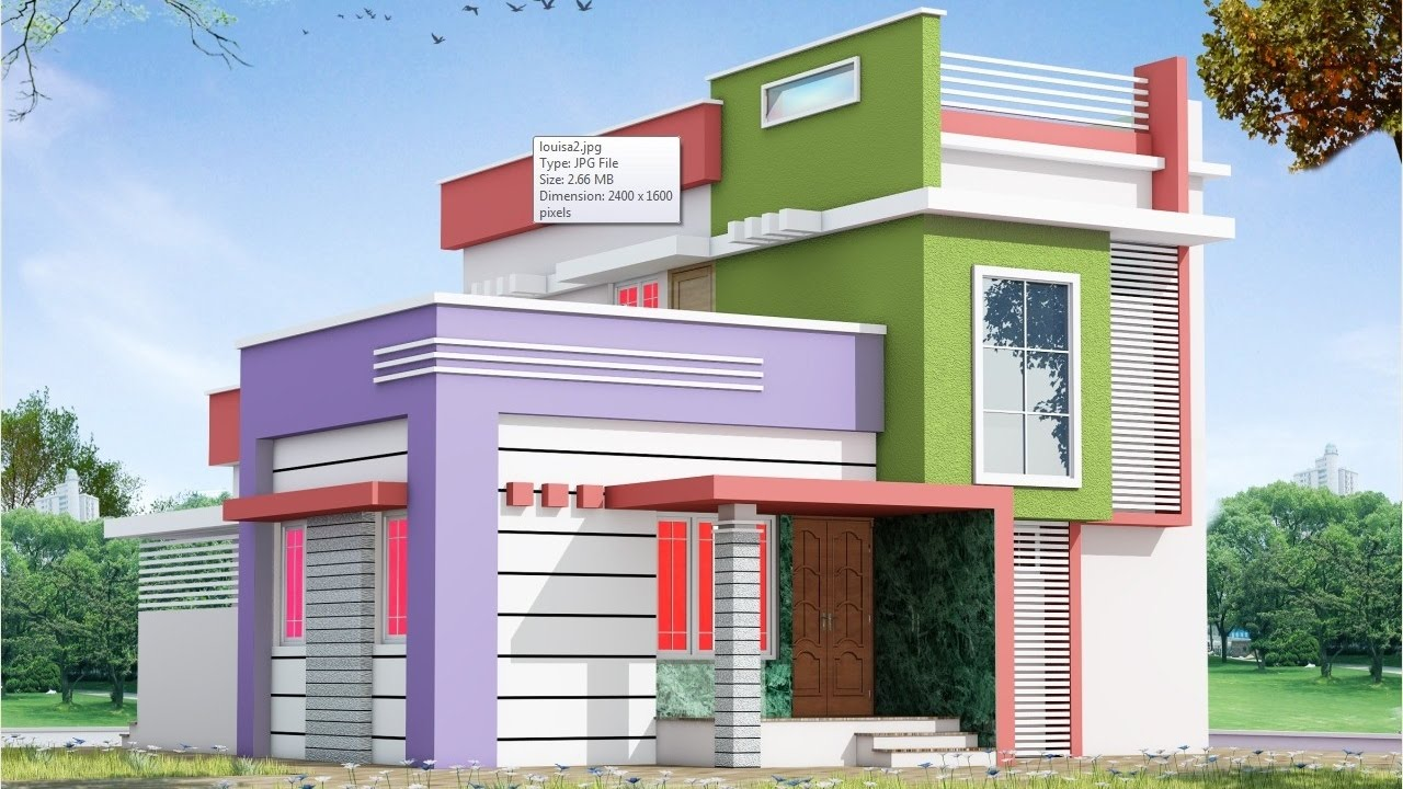 Small duplex house 3d modeling rendering ffx8 youtube for Small duplex house